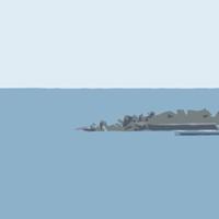 唐津城下の波止